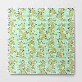 Crocodilly Metal Print