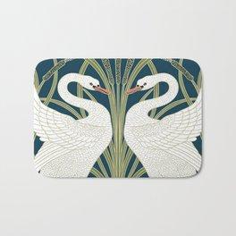 Swan Rush and Iris by Walter Crane Bath Mat