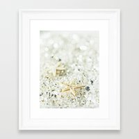 starfish Framed Art Prints featuring Starfish by Monika Strigel