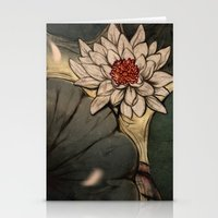 lotus Stationery Cards featuring Lotus by Corinne Reid