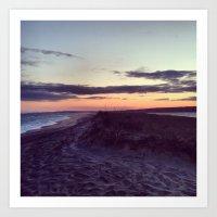 Beach Sunset Art Print