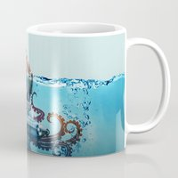 finding nemo Mugs featuring Nemo by Tony Vazquez