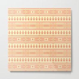African ethnic tribal pattern Metal Print