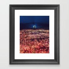 Fields of Red Framed Art Print
