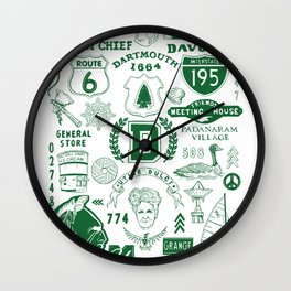 Dartmouth Massachusetts Print Wall Clock