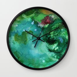 Blue Textured Abstract Wall Clock