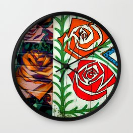 A Rose Is A Rose Is... Wall Clock