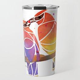 Cedar Waxwings Share a Berry Travel Mug