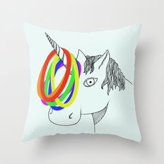 unicorn game Throw Pillow