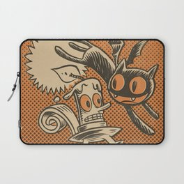 Bat Cat and Candle Laptop Sleeve