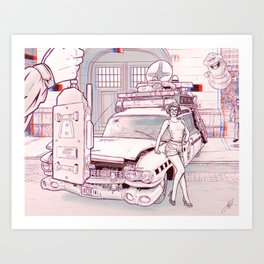 Ghostbusters II 3D anaglyph Art Print
