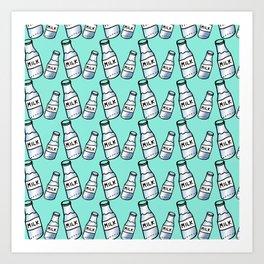 Milk bottle Art Print