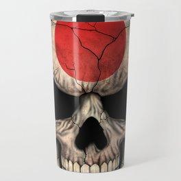 Dark Skull with Flag of Japan Travel Mug
