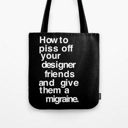 Designer Migraine Tote Bag