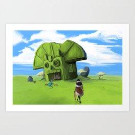 The Wastelands Godhead rest stop Art Print