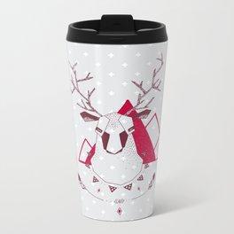 Christmas Geo Deer Metal Travel Mug