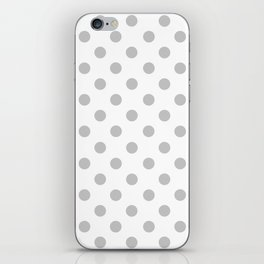 Polka Dots (Gray & White Pattern) iPhone Skin