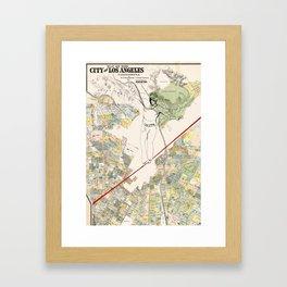 L.A. walking the edge Framed Art Print