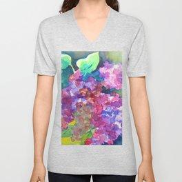 Bold Color Lilacs Unisex V-Neck