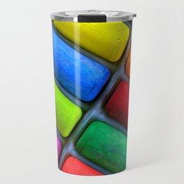 Colorful Sidewalk Chalk Travel Mug