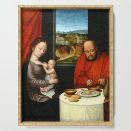 Virgin and Child with Saint Joseph Serving Tray