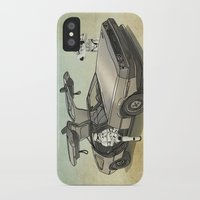 anaconda iPhone & iPod Cases featuring Lost, searching for the DeathStarr _ 2 Stormtrooopers in a DeLorean  by Vin Zzep