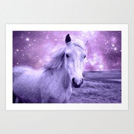 Lavender Horse Celestial Dreams Art Print