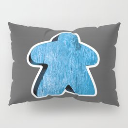 Giant Blue Meeple Pillow Sham