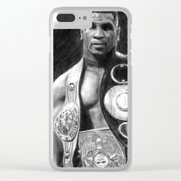 Mike Tyson Pencil Drawing Clear iPhone Case