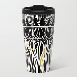 Electric Gold Jellyfish Uno Metal Travel Mug