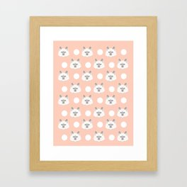 Ella - Birmin breed cat lovers pet owners cat person gift idea for cat lady hipster white cute kitte Framed Art Print