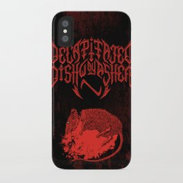 Decapitated by dishwasher III (red) iPhone Case