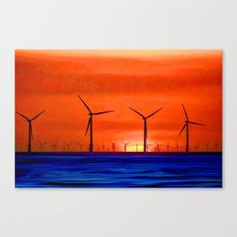 Windmills in the Sea Canvas Print