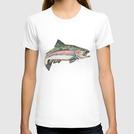 Rainbow Trout Collage T-shirt