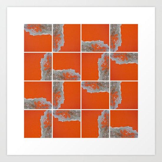 Wall Pattern Art Print