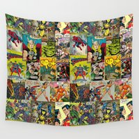 comic Wall Tapestries featuring COMIC by Vickn