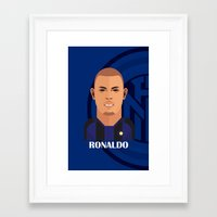 ronaldo Framed Art Prints featuring Ronaldo Toon by Sport_Designs