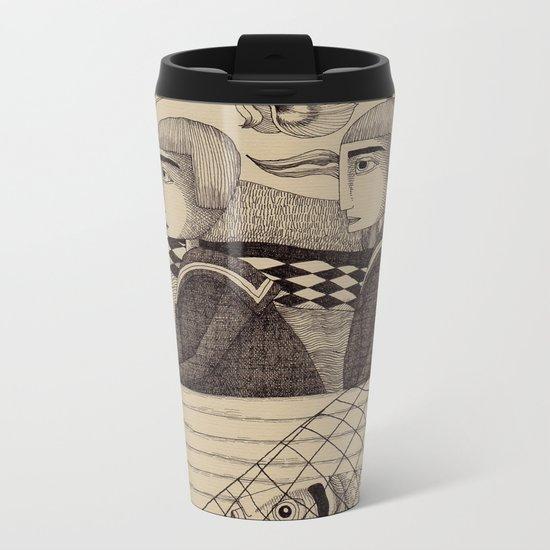 The Golden Fish (2) Metal Travel Mug