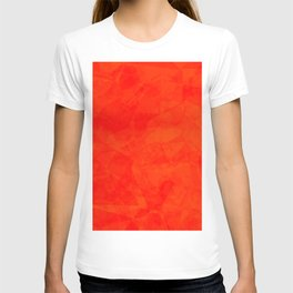 Red polygonal background T-shirt