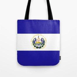 El Salvador flag emblem Tote Bag