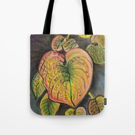 Hosta Leaves - Fall Tote Bag