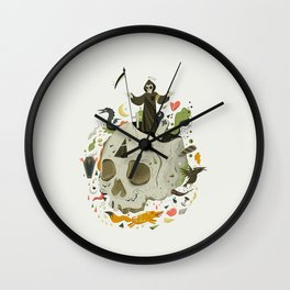 Thanatophobia Wall Clock