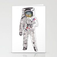 astronaut Stationery Cards featuring Astronaut by James White