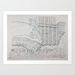 Chicago - Bean Millennium Park Art Print
