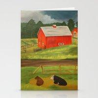 farm Stationery Cards featuring Farm by ArtSchool