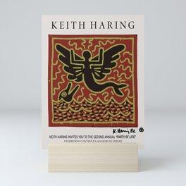 Keith Art, Exhibition Poster, Japan Vintage Print Mini Art Print