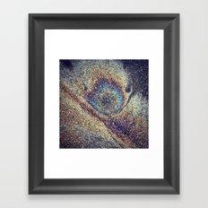 Peacock Oil Framed Art Print