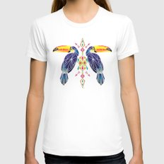 toucan Womens Fitted Tee White MEDIUM