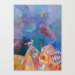 Dream of one cat Canvas Print