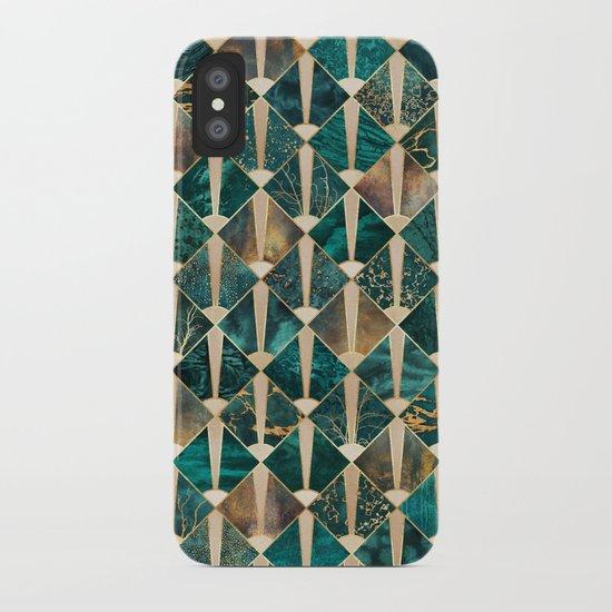 Art Deco Tiles - Ocean iPhone Case